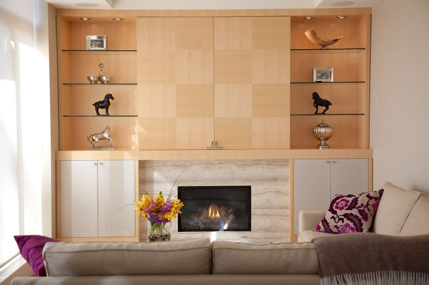 media wall designs WALL UNIT Project 710 Hidden TV Quarter Cut