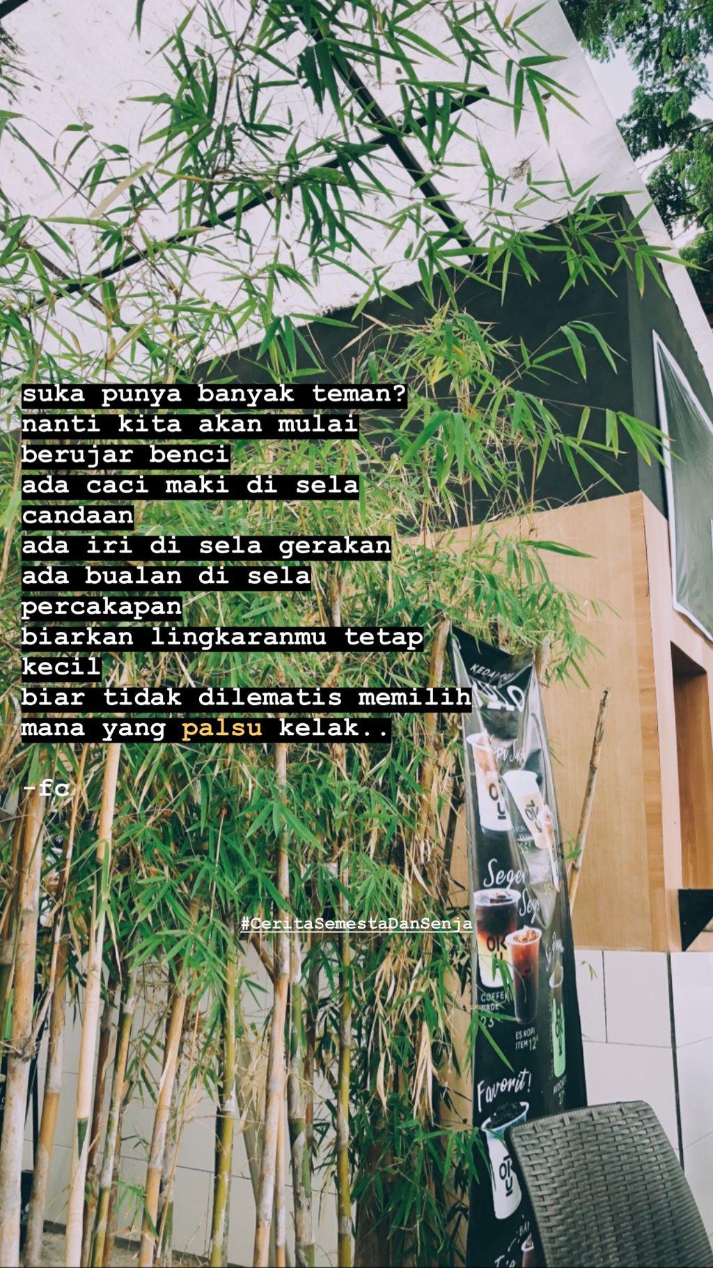 CeritaSemestaDanSenja Indonesia Quotes Cerita Semesta Dan