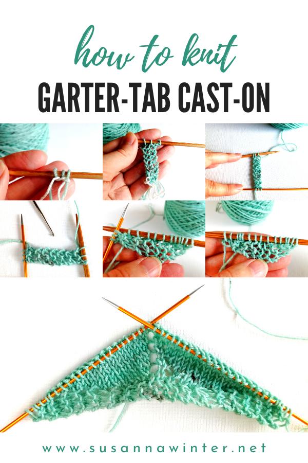 How To Knit Garter Tab Cast On Tutorial Talvi Knits Knitting Advanced Knitting Knitting Tutorial