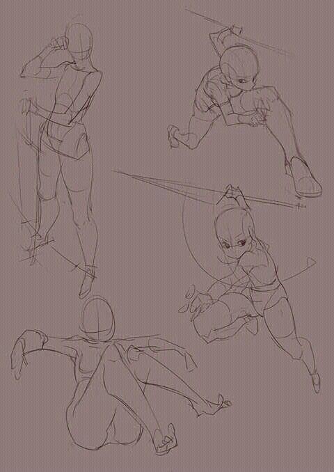 Posiciones del cuerpo | Art References ღ ¯\_(ツ)_/¯ | Pinterest ...