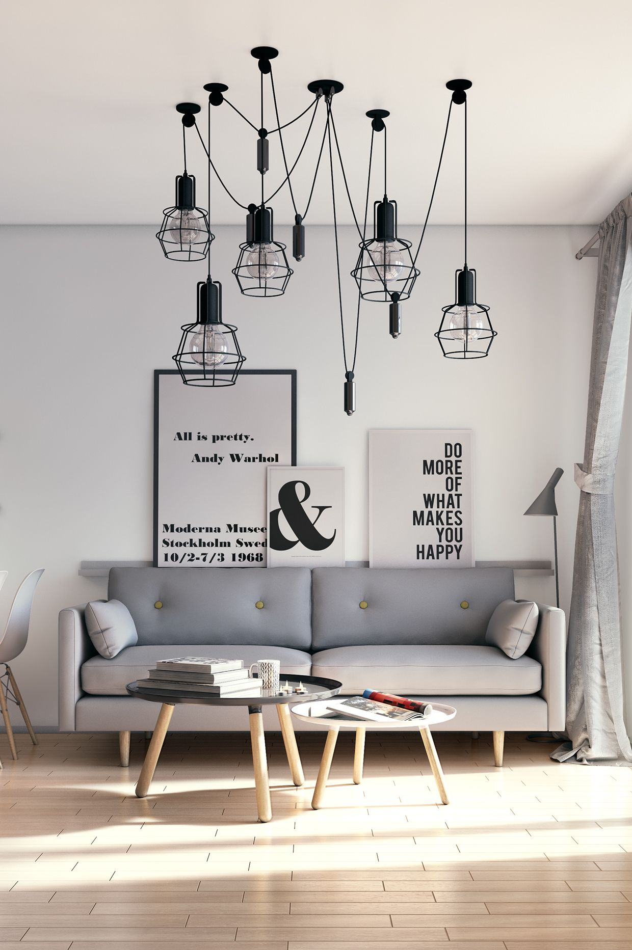 Scandinavian Living Room: Take a look at this amazing living