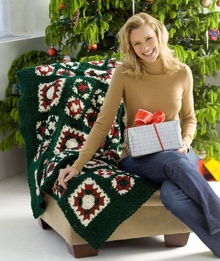 Granny's Noel Throw, both written instructions and video tutorial by