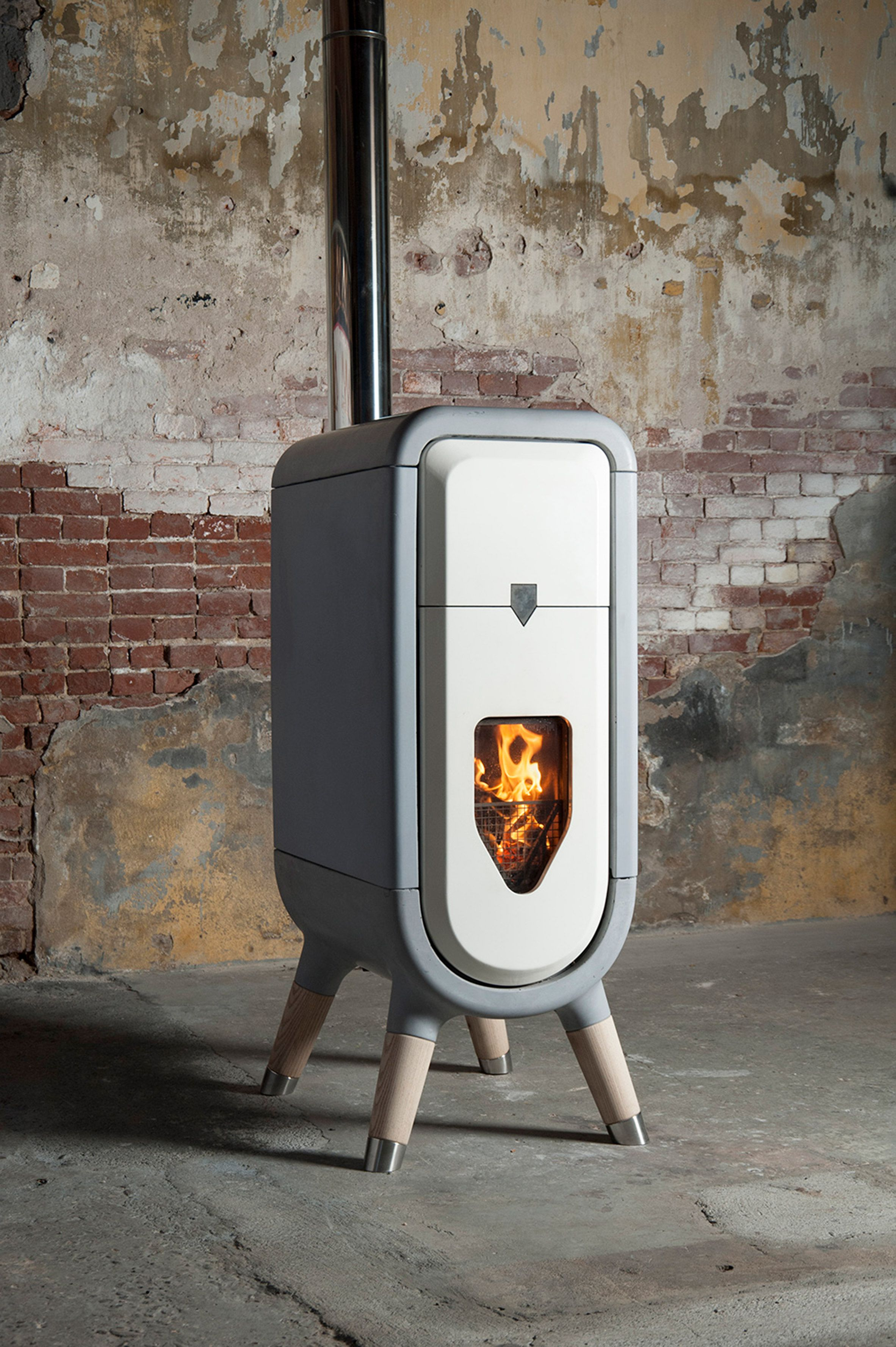 tjep designs sustainable wood burner for the modern home design