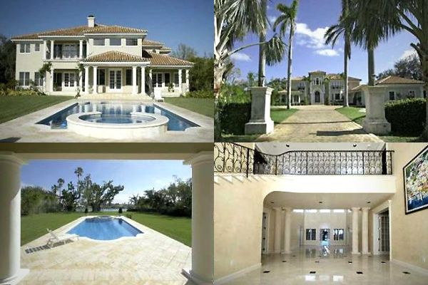 Mediterranean-style home of Jay-Z and Beyonce in Indian Creek Village, Florida