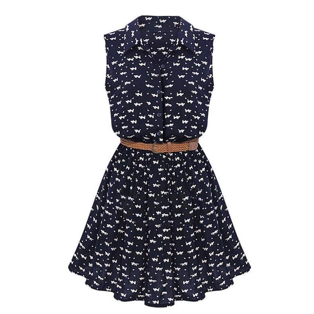 This is the purrrfect thin and flowy summer dress for those hot days! With  a cute cat and paw print design 021d51862fe