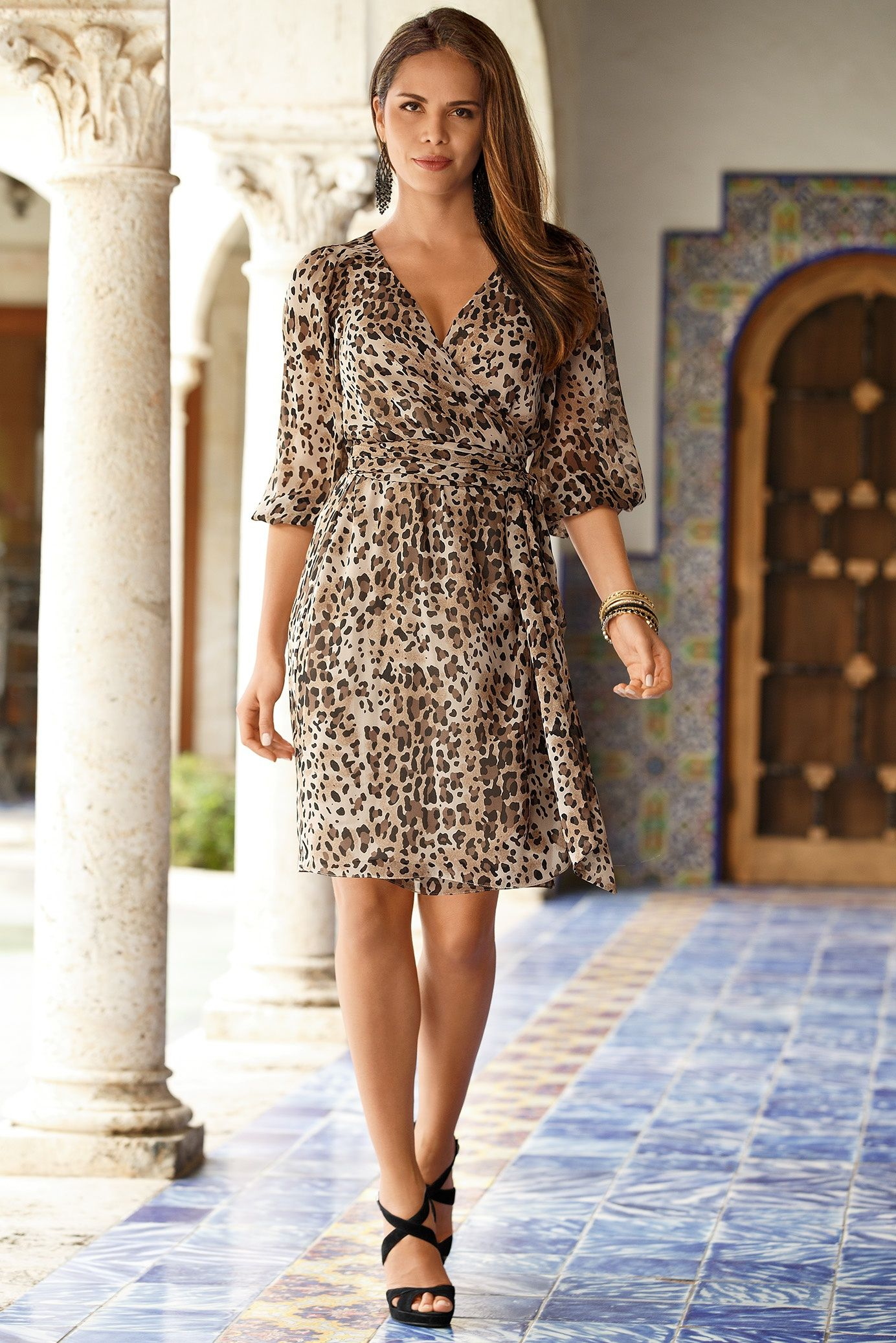 Boston Proper Neutral leopard dress #bostonproper ...
