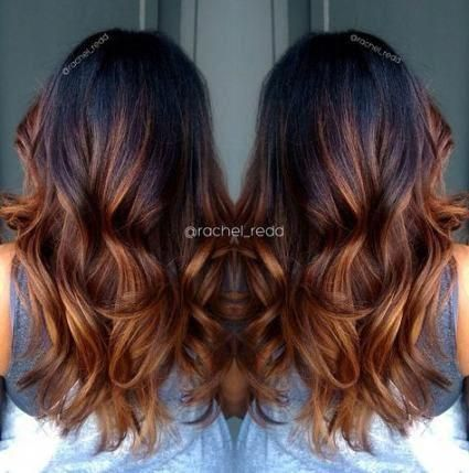 Hair balayage copper caramel highlights 53+ trendy ideas #hair #ombrehairstraight #copperbalayage