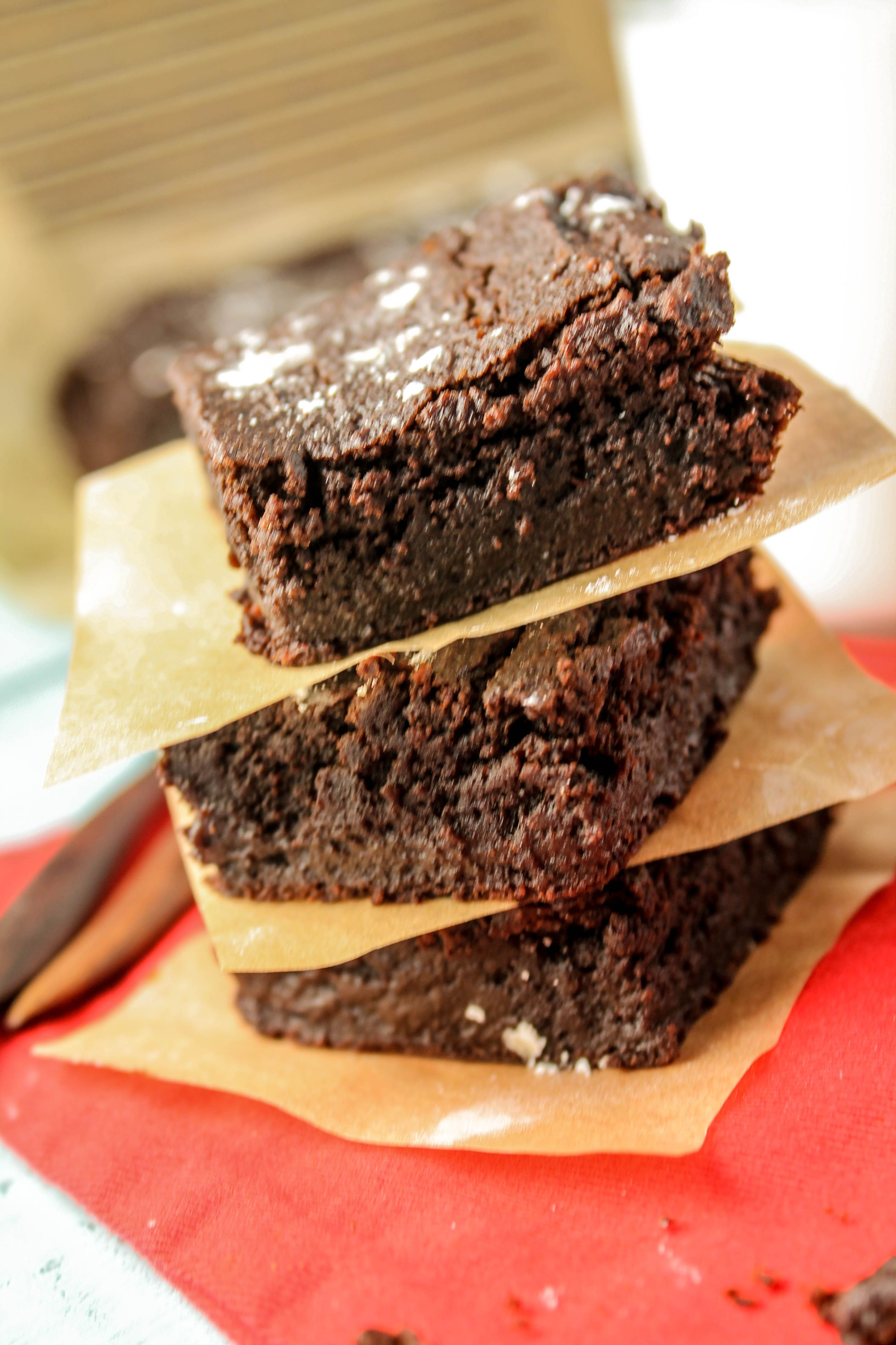 Dense Fudgey Chocolate Brownies Paleo Vegan Nut Free