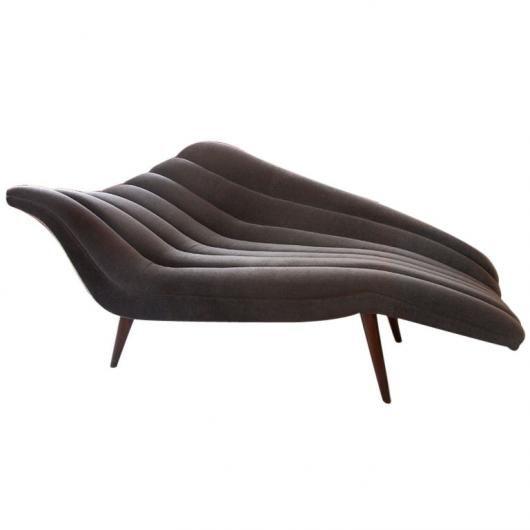 Lost city arts ultra chic chaise lounge modernist for Mobilia uno furniture