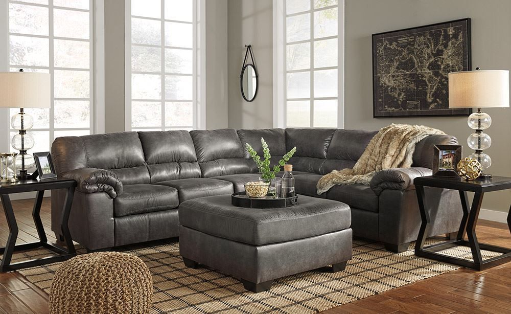 Best Picture Of Bladen Slate Three Piece Sectional Couch With 400 x 300