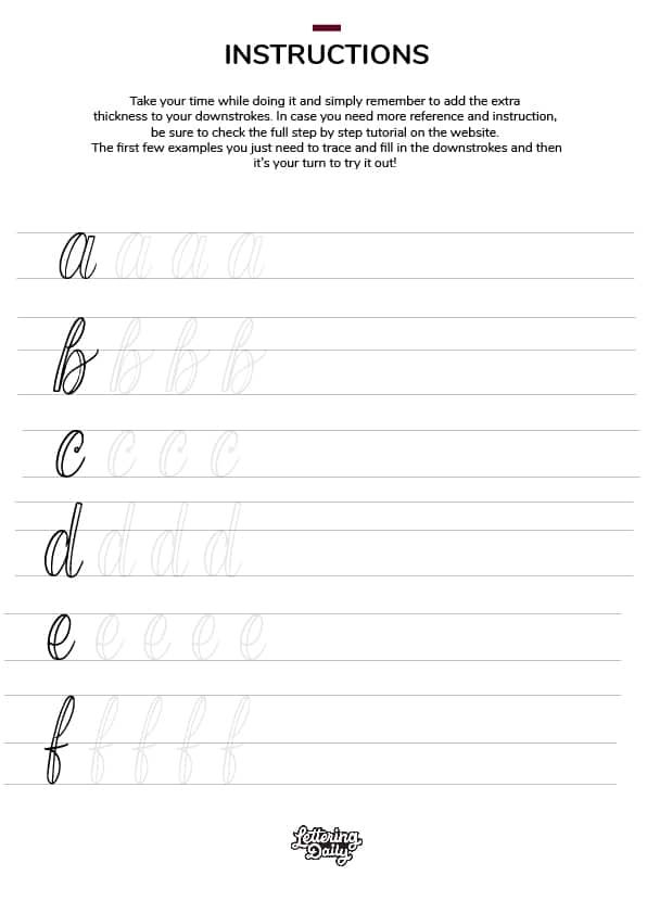 Procreate Calligraphy Practice Sheets Free Novocom Top Free letter tracing worksheets procreate