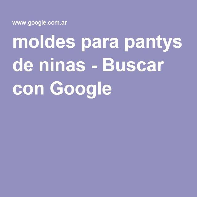 moldes para pantys de ninas - Buscar con Google
