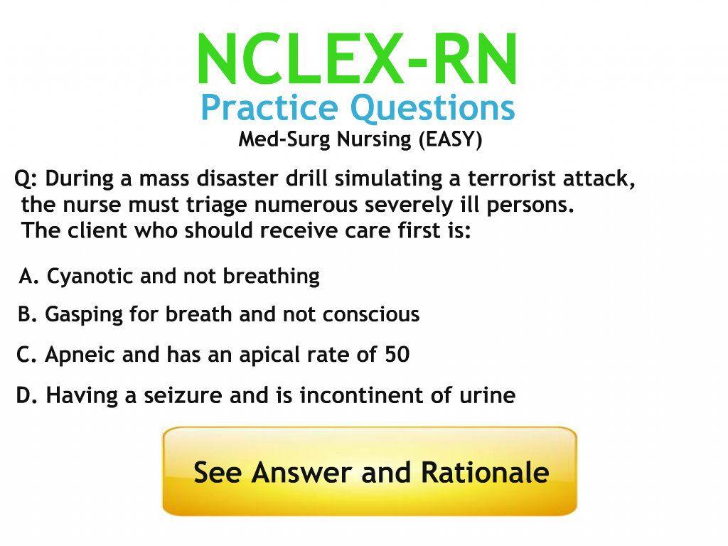 Nclex Practice Questions Medical Surgical Nursing