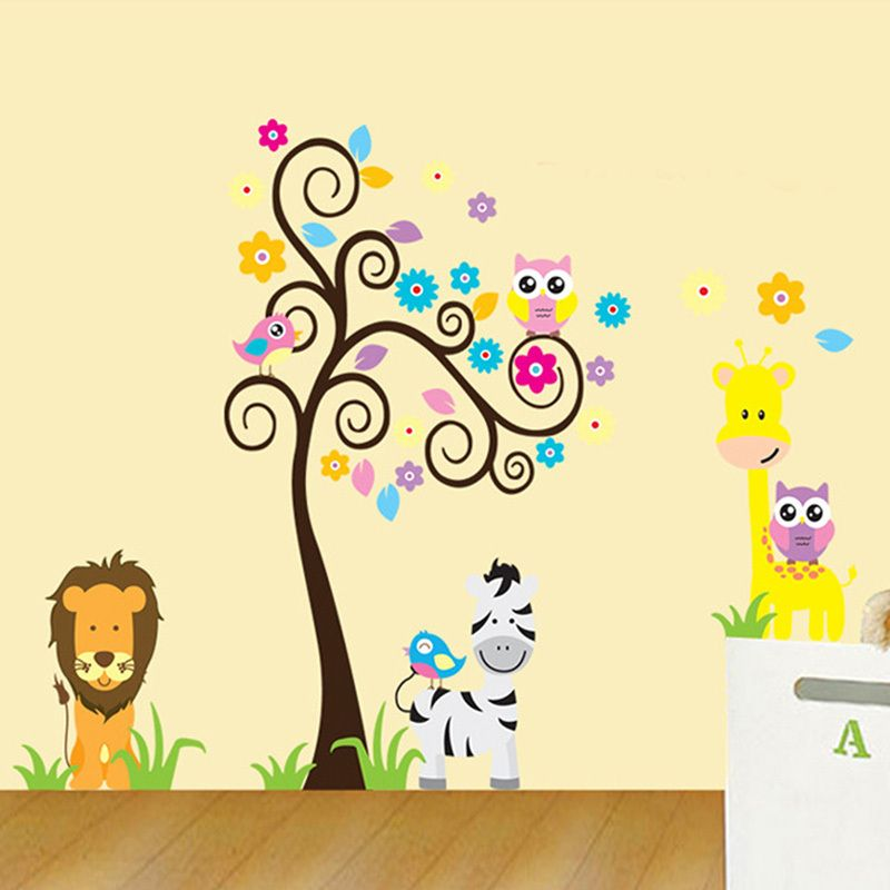 Encontrar Más Pegatinas de pared Información acerca de Animal jirafa ...
