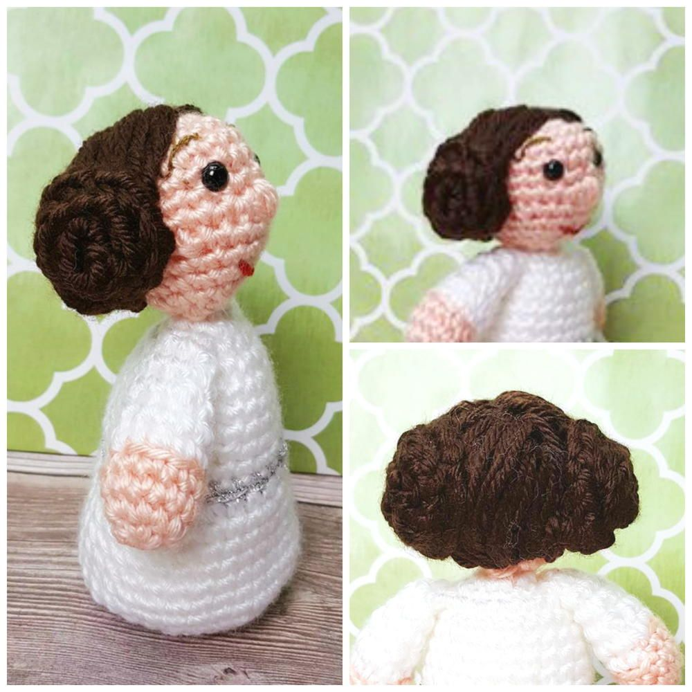 Princess Leia Inspired Amigurumi Knitted And Crocheted Pinterest