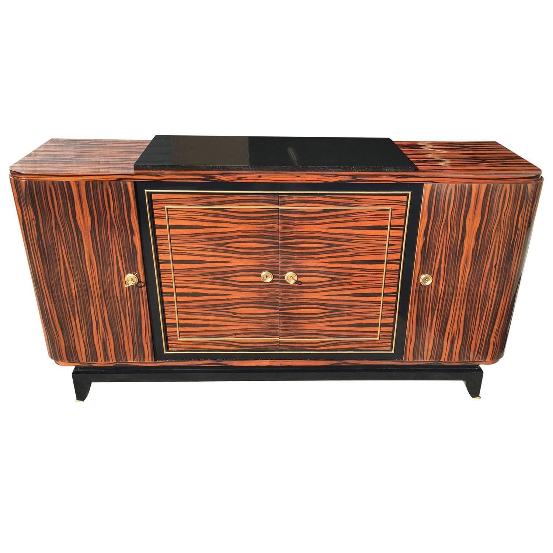 Spectacular French Art Deco Exotic Macassar Ebony Buffet | Modern  Sideboards | Luxury Furniture | Sideboard