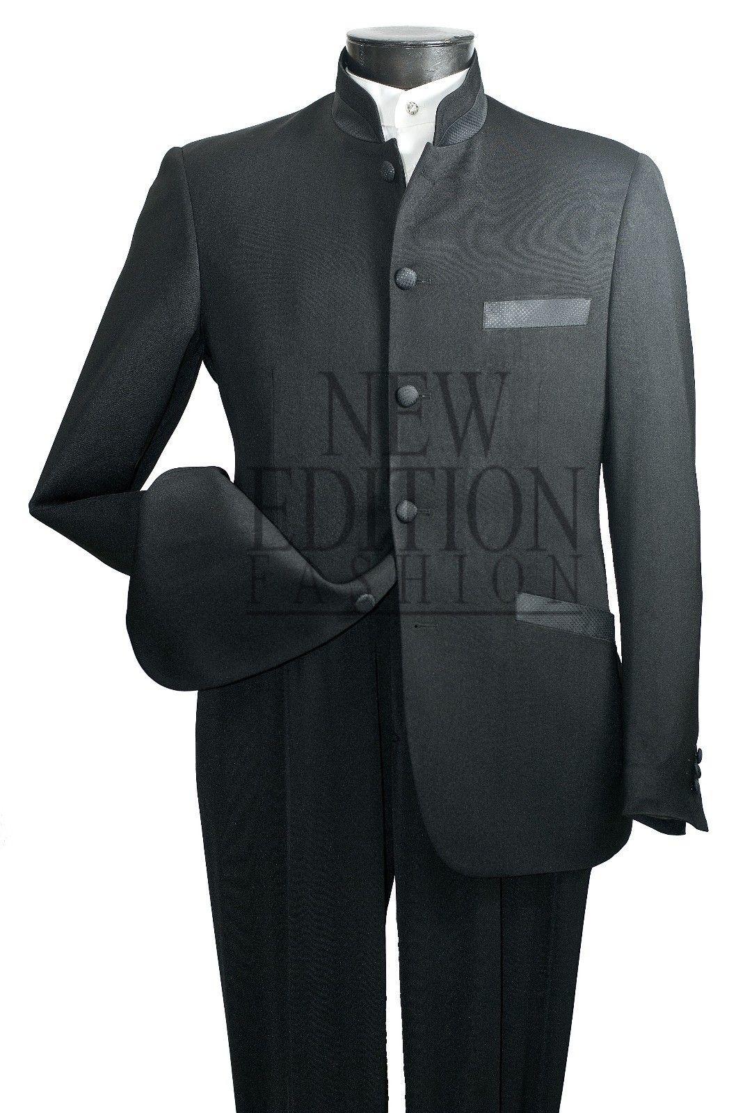 a4475b0a3 Vittorio St Angelo Men's 5 Button Mandarin Collar Suit | Say 'I DO ...