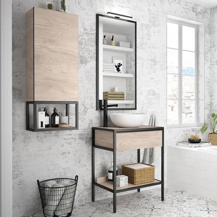 Mueble Auxiliar De Bano Serie Studio Ref 82055995 Leroy Merlin