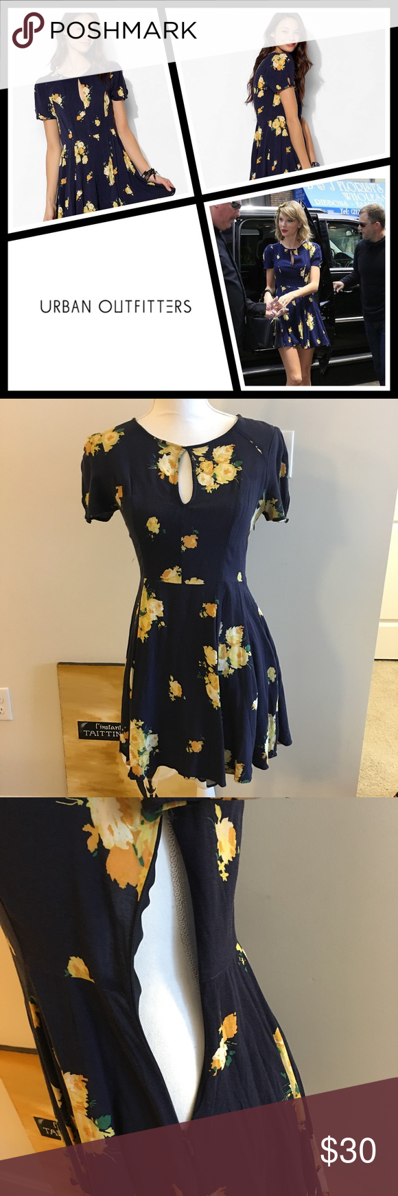 Kimchi Blue Ruby Keyhole Fit Flare Dress Excellent condition super soft and comfortable size 4 - 100% rayon - from Urban Outfitters Kimchi Blue line Urban Outfitters Dresses