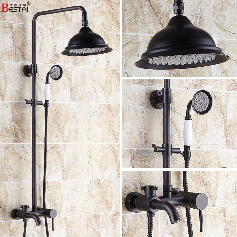 Black / bronze antique sprinkler suit copper European shower ...