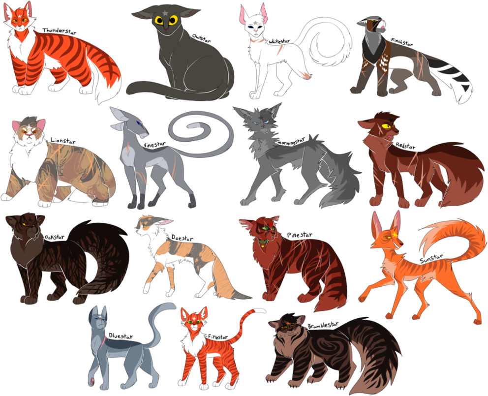 All the ThunderClan leaders (With images) Warrior cats