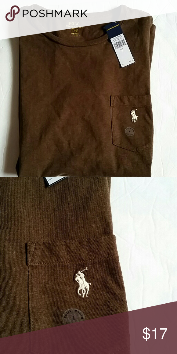Polo Ralph Lauren Men S Pocket T Shirt New With Tags Clic Fit Heather Brown Color Short Sleeve I Do Have Bundle Other Than That All Prices Are