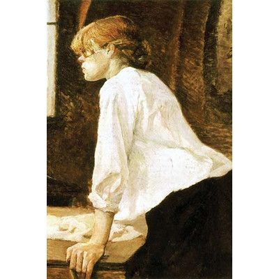 """Buyenlarge 'The Laundress' by Toulouse-Lautrec Painting Print Size: 66"""" H x 44"""" W"""