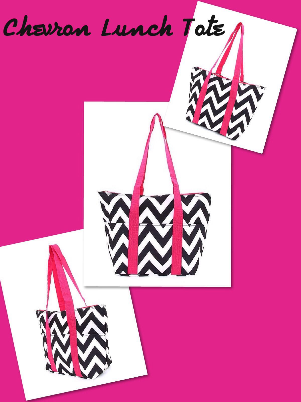 Awesome Insulated Chevron Lunch Tote!