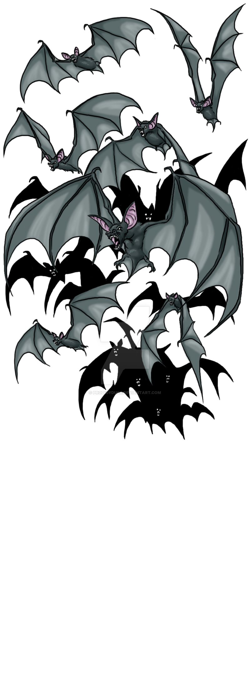 Bat Swarm By Prodigyduck On Deviantart Bat Art Scary Bat Vampire Art