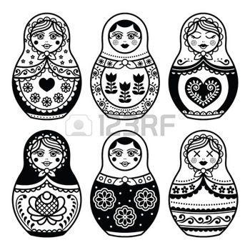 poupee russe matriochka ic nes de poup es russes d finies illustration matriochkas. Black Bedroom Furniture Sets. Home Design Ideas