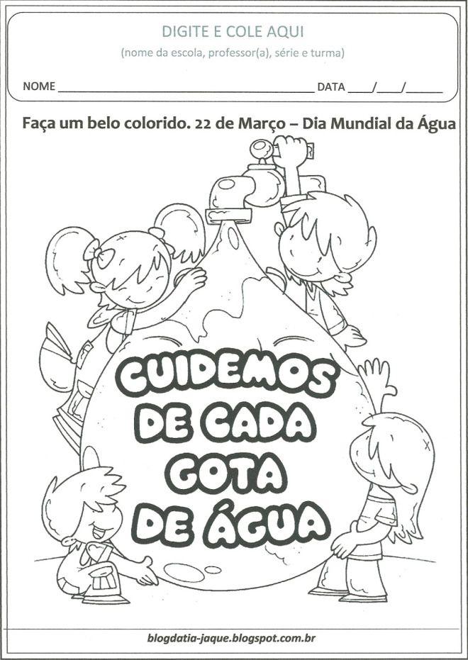Dia Da Agua Para Colorir Atividades Para Educacao Infantil Dia