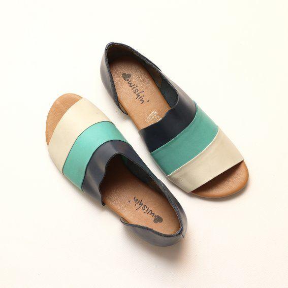 db70a3011 Flat Torre Tricolor. Wishin´ - Flat femininos | Moda | Sapatos, Moda ...