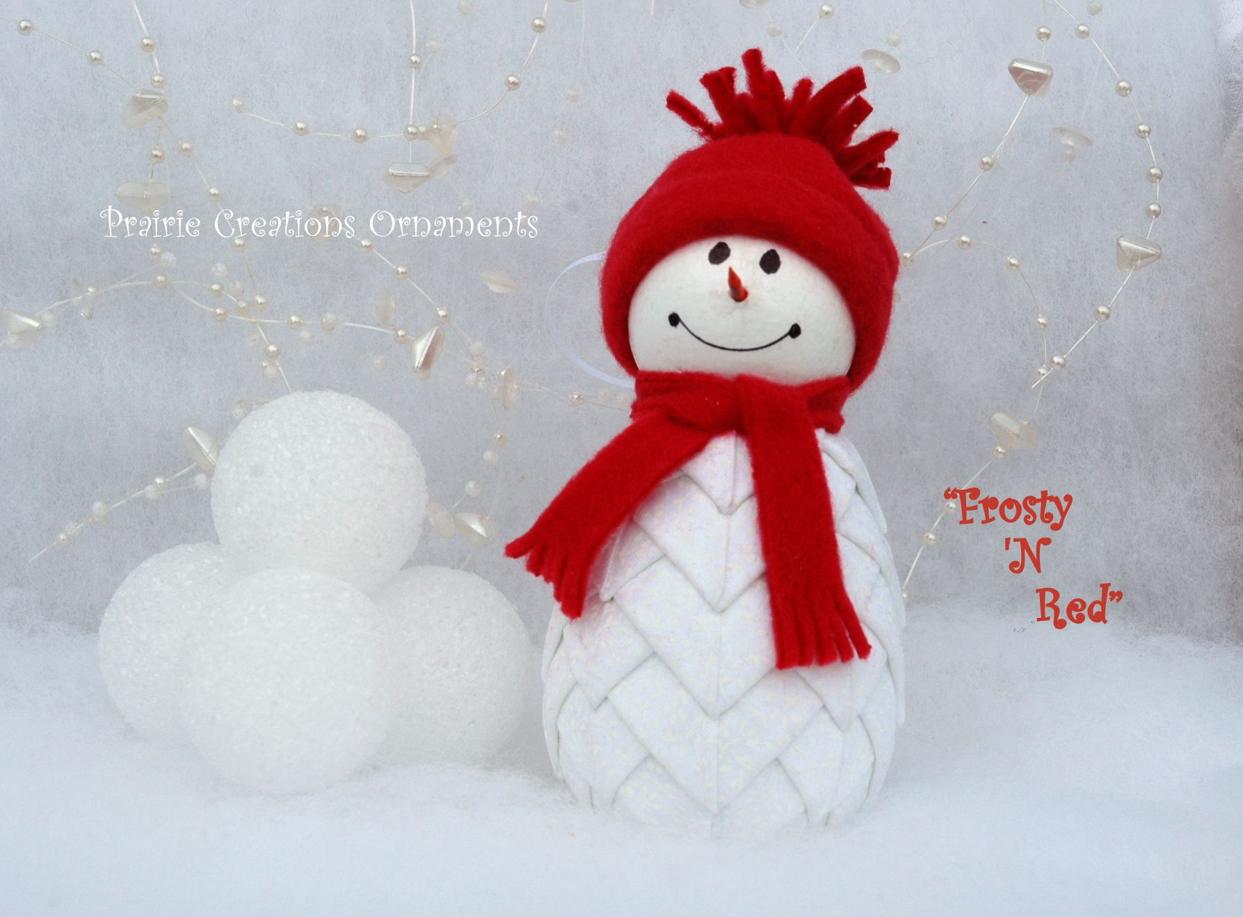 Frosty Is Wearing A Little Red Hat And Red Scarf