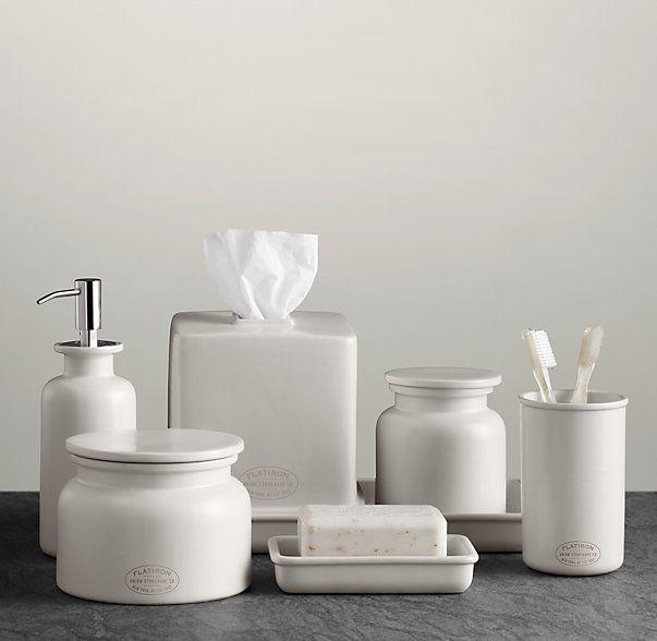 Flatiron Union Stoneware Bath Accessories White Ceramica
