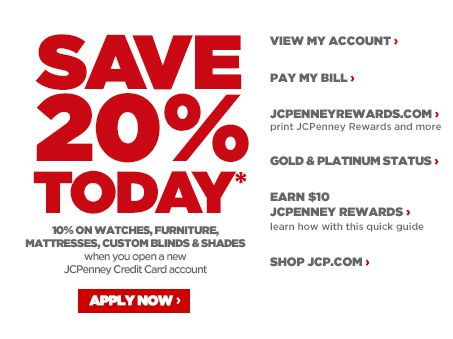 JCPenney Online Credit Center Custom blinds, How to