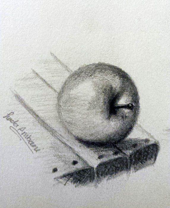 Apple Pencil Sketch Apple Pencil Drawing