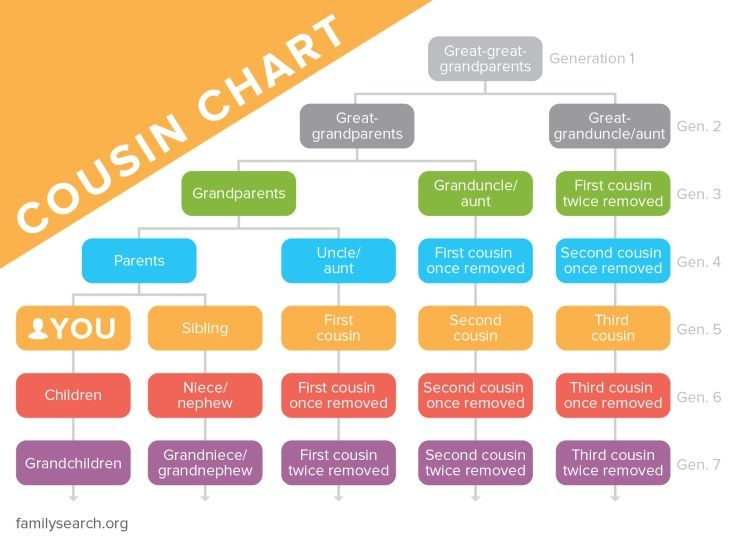 Cousin Chart—Family Relationships Explained   Cousin