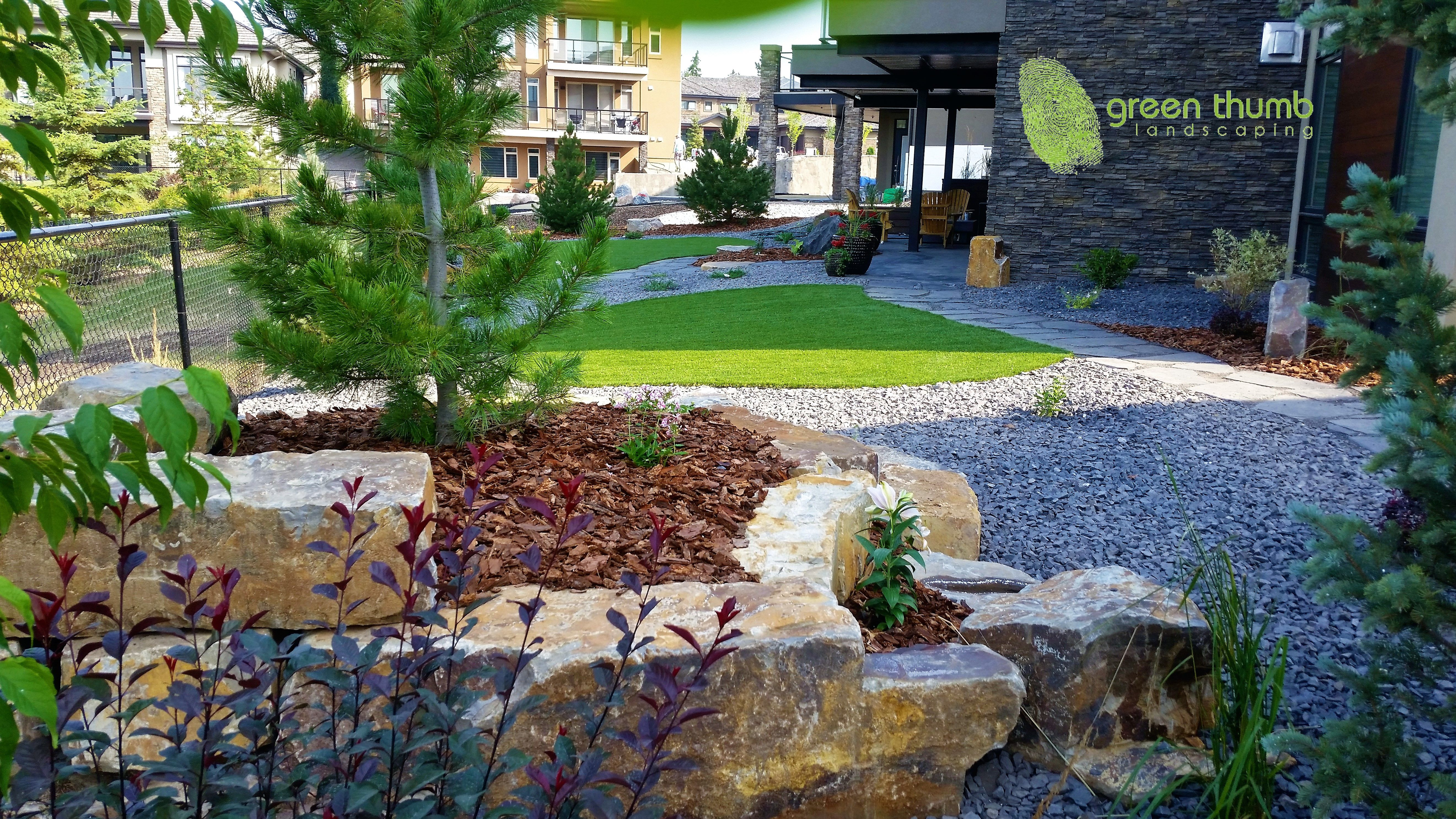 Artificial turf can be installed in small or large areas. It is a great way to minimize time spent working in the yard and to maximize time spent enjoying your yard.