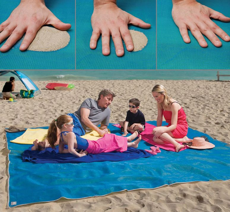 Cgear Giant Sandless Beach Mat Vacation Sand Water