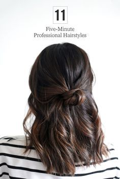5 Minute Office Friendly Hairstyles Hair Pinterest Beauty