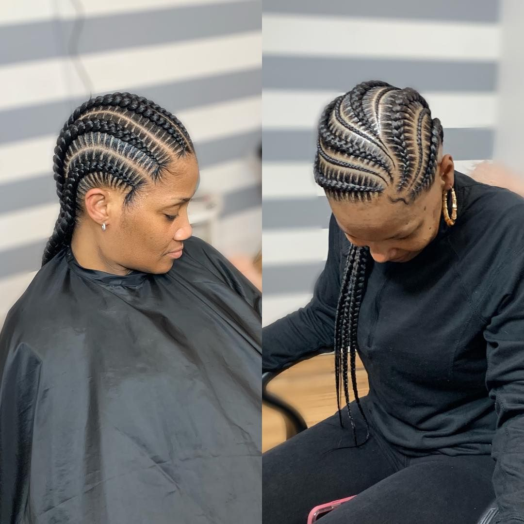 Are You A Straight Or Curved Personally Feedins Going Back Are My Fav To Do Regardl With Images African Hairstyles African Hair Braiding Styles African Braids Hairstyles