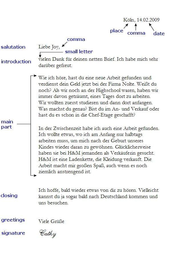 Briefe Schreiben Vorlage : Http utschseite schreiben informeller brief