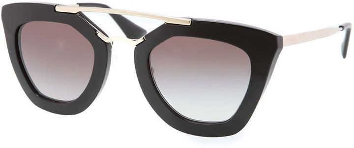 d098f198638 Prada Cat-Eye Double-Bridge Sunglasses
