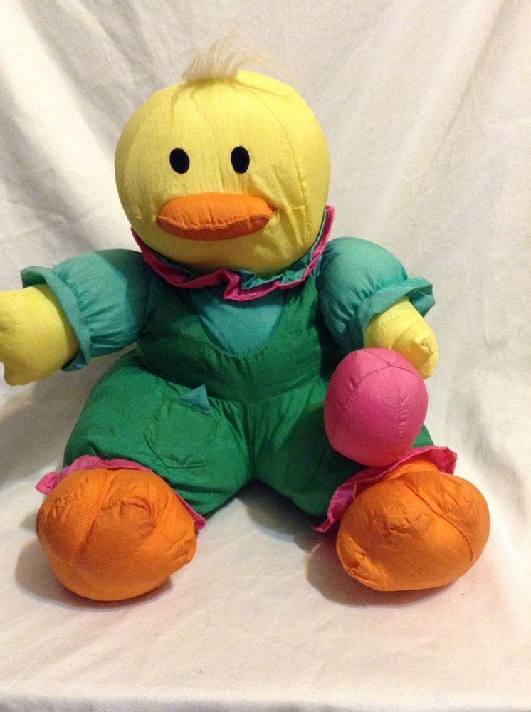 International Silver Co Puffalump Easter Chick Duck Plush Stuffed