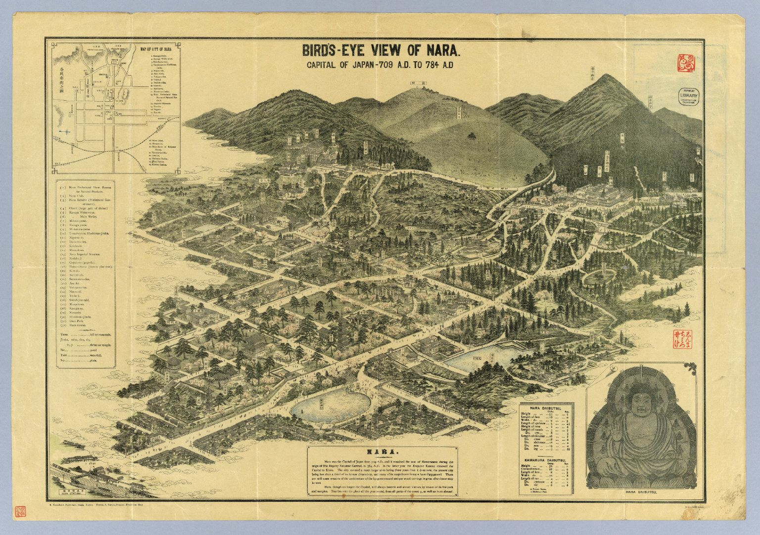 Birds eye view of nara japan capital of japan from 709 to 784 birds eye view of nara japan capital of japan from 709 to gumiabroncs Choice Image