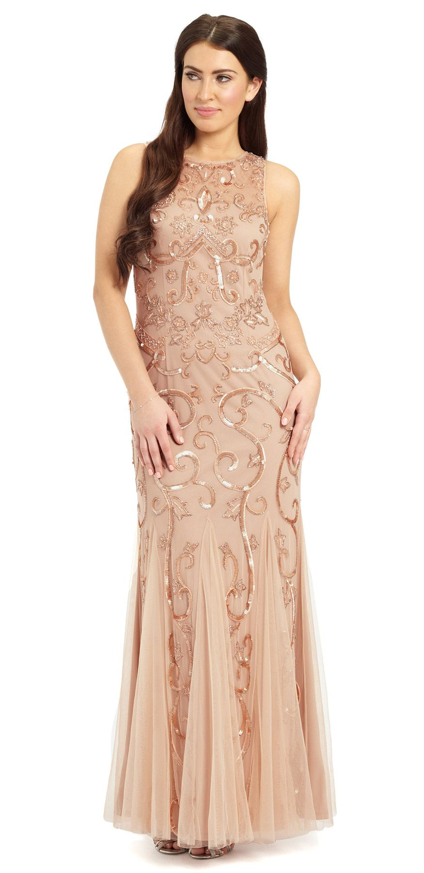 Karla Sequin & Beaded Evening Gown wedding reception dresses ...