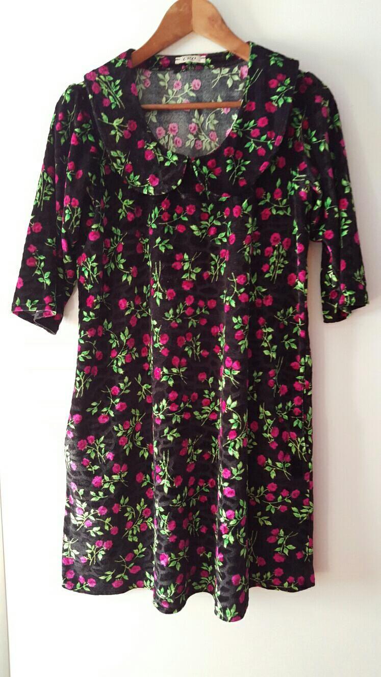 Cok Renkli Zara Gunluk Elbise Dress Zara Ve Kadife