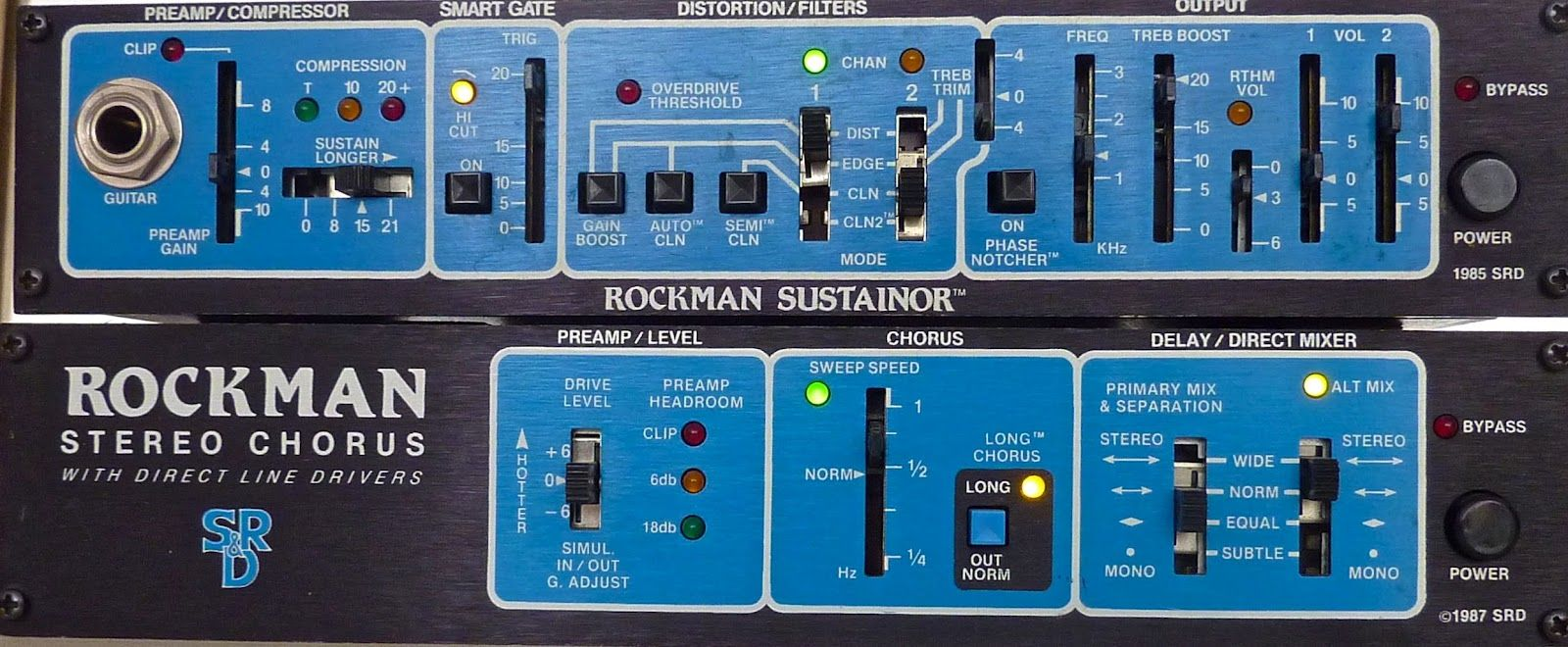 instrumental instruments scholz rockman guitar effects units rockman sustainer and rockman. Black Bedroom Furniture Sets. Home Design Ideas
