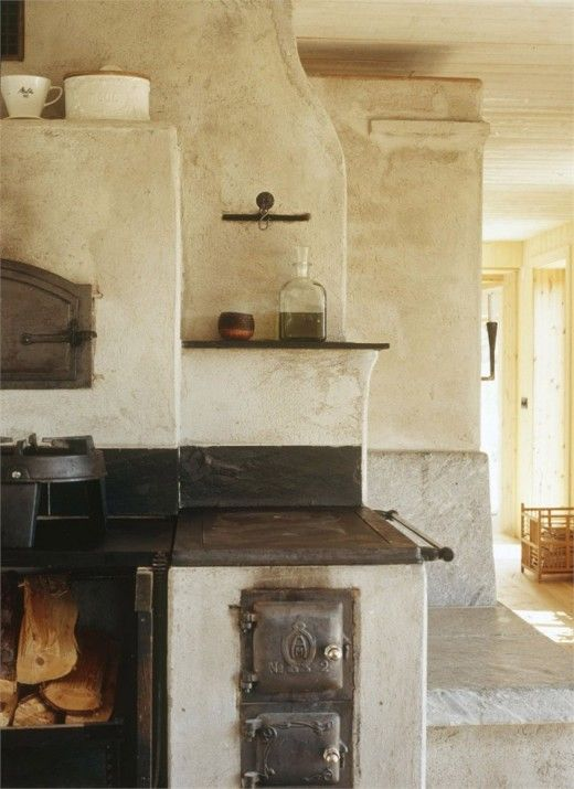 rustic Addition palette Pinterest Ofen, Kachelofen und Küche - holzofen für küche