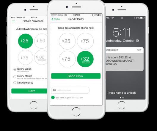 Sign up for Greenlight! Send money, Signup, App